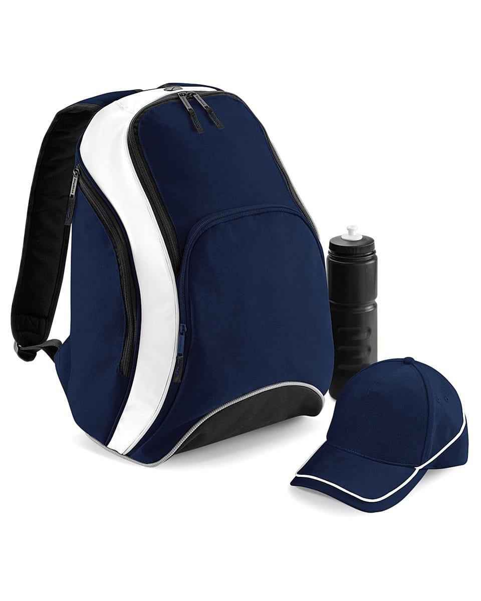 Bagbase Teamwear Backpack in French Navy / White (Product Code: BG571)