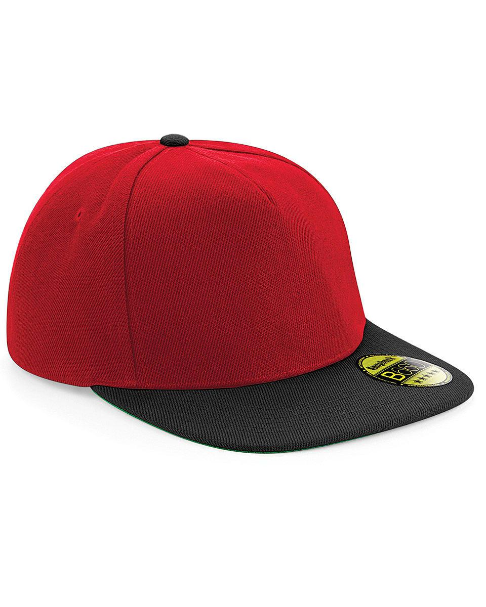 Beechfield Original Flat Peak Snapback in Classic Red / Black (Product Code: B660)