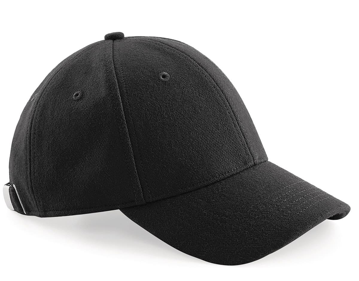 Beechfield Melton Wool 6 Panel Cap in Black (Product Code: B674)
