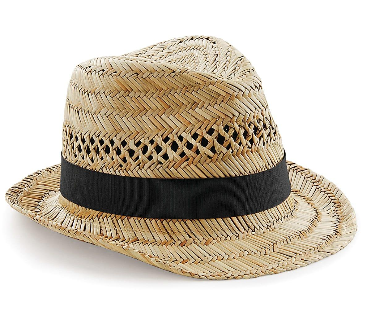 Beechfield Straw Summer Trilby in Natural (Product Code: B730)