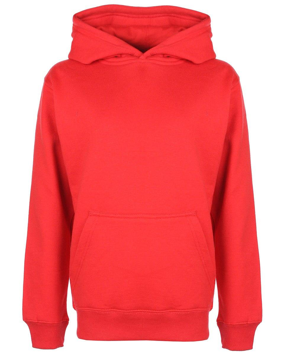 FDM Junior Hoodie in Fire Red (Product Code: FH004)