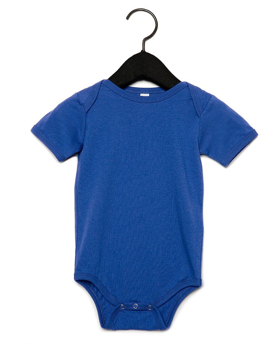 Bella Baby Jersey Short-Sleeve Onesie in True Royal (Product Code: BE100B)