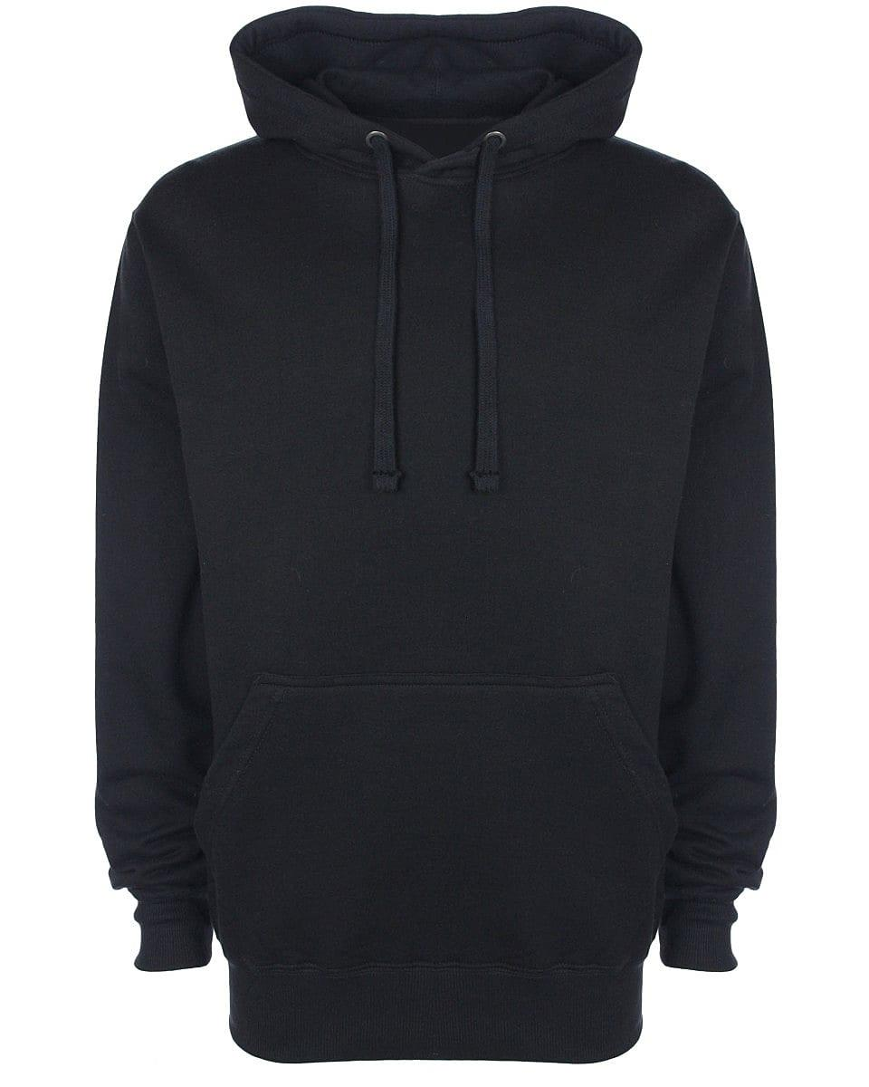 FDM Unisex Tagless Hoodie in Black (Product Code: TH001)