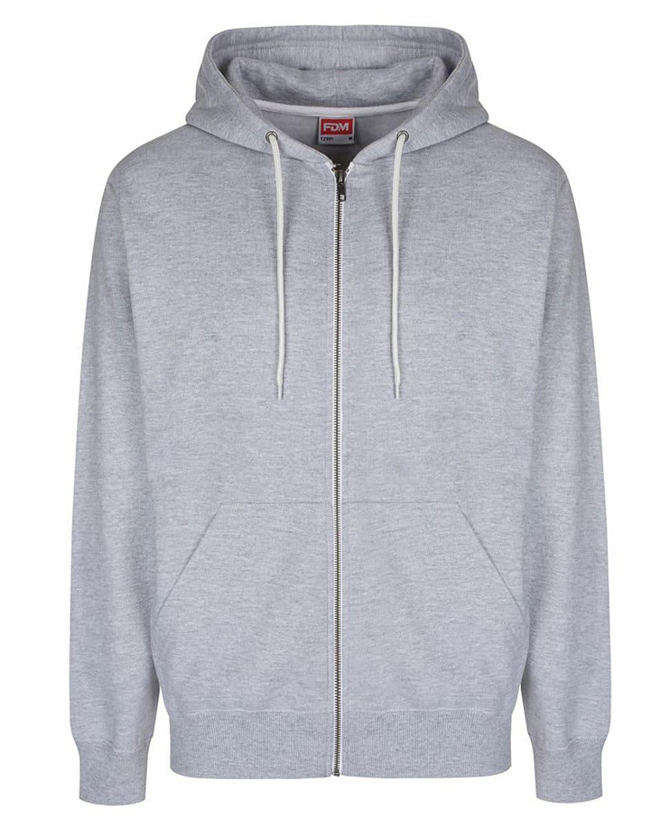 FDM Team Zip Hoodie in Heather Grey (Product Code: TZ001)