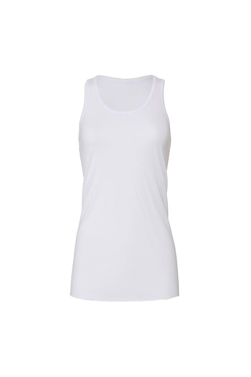 Bella Flowy Racerback Tank Top in White (Product Code: BE8800)