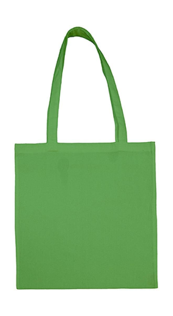 Jassz Bags Beech Cotton Long-Handle Bag in Pea Green (Product Code: 3842LH)