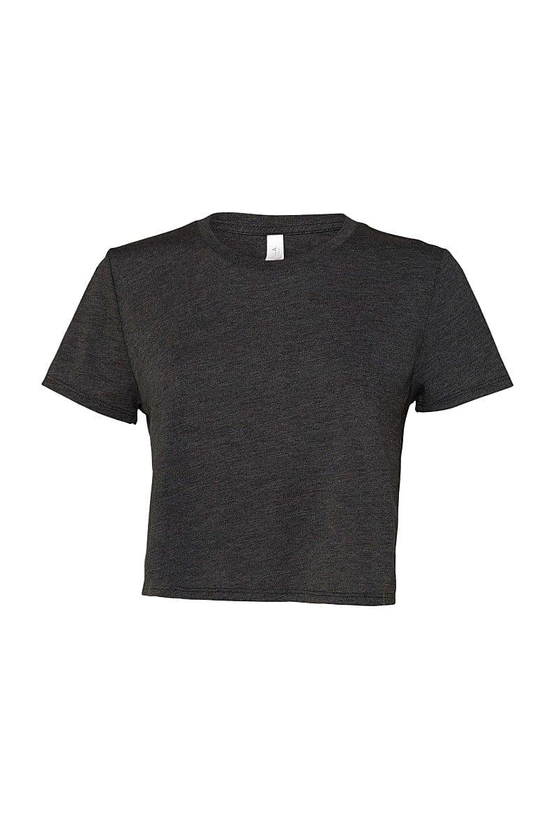 Bella+Canvas Womens Flowy Cropped T-Shirt in Dark Grey Heather (Product Code: BE8882)