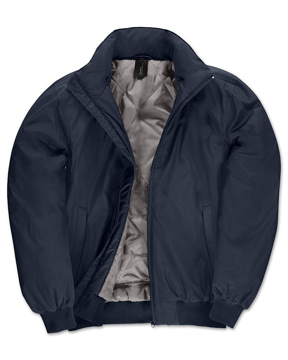 B&C Mens Crew Bomber Jacket in Navy Blue (Product Code: JM961)