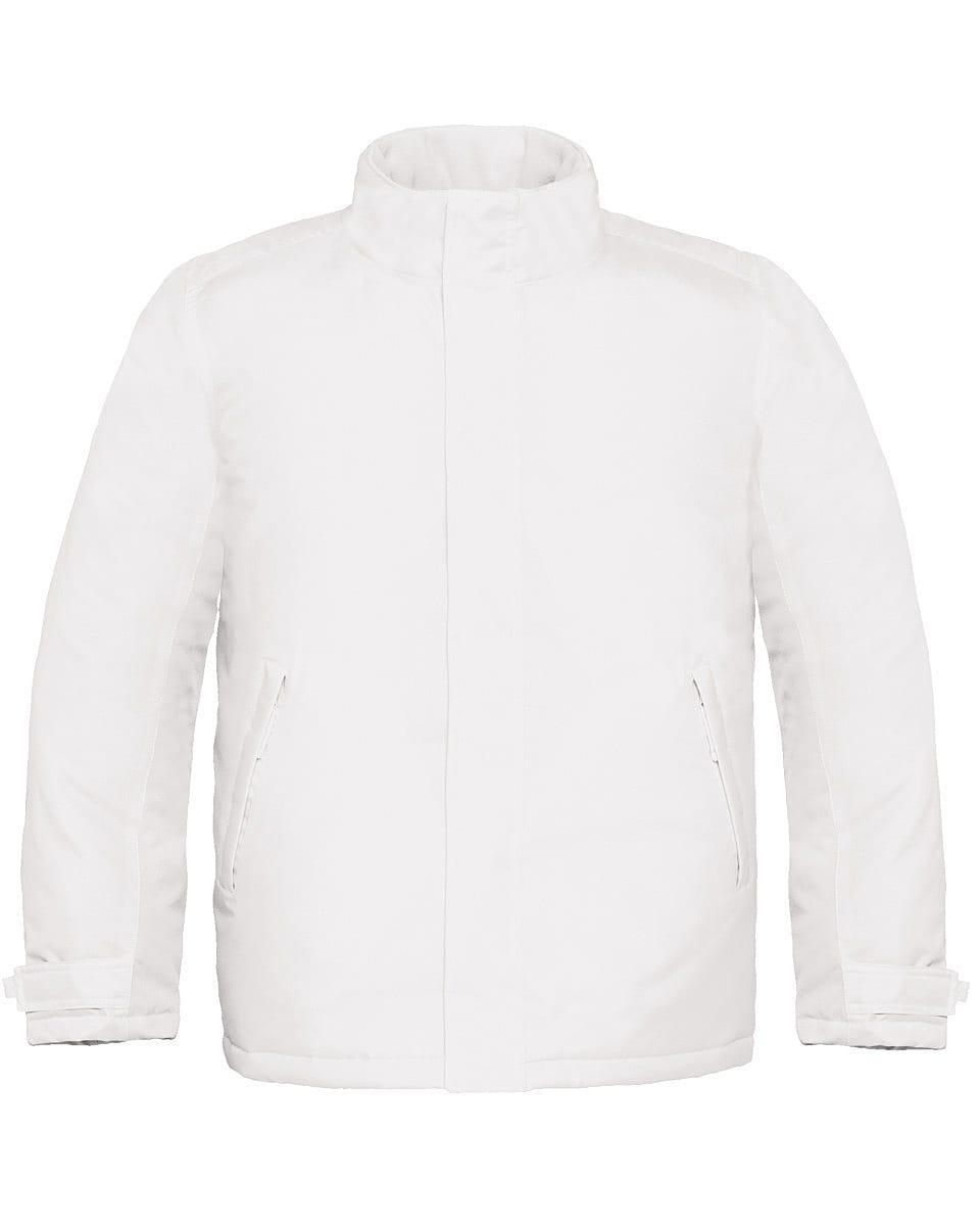 B&C Mens Real+ Jacket in White (Product Code: JM970)