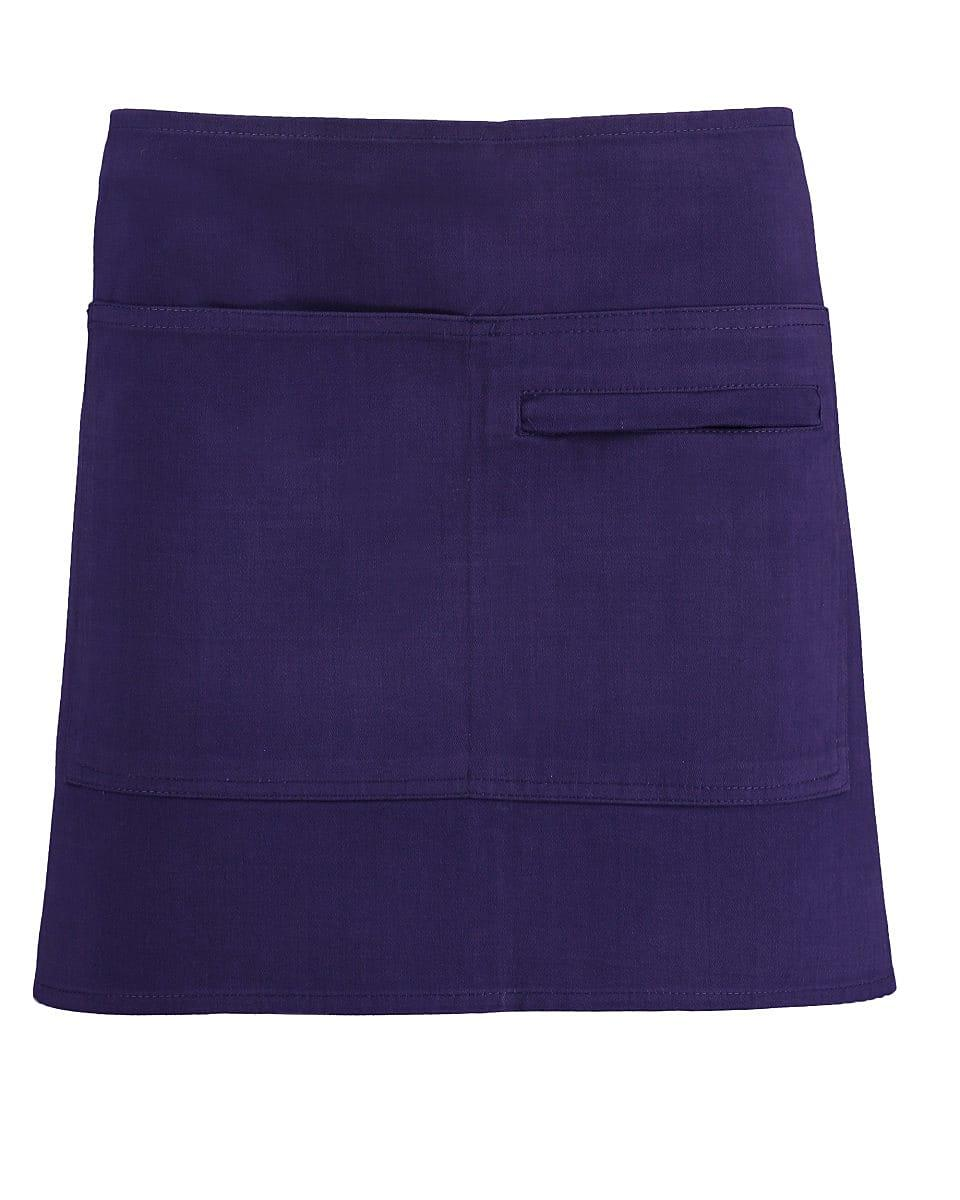 Bargear Unisex Short Bar Apron in Purple (Product Code: KK513)