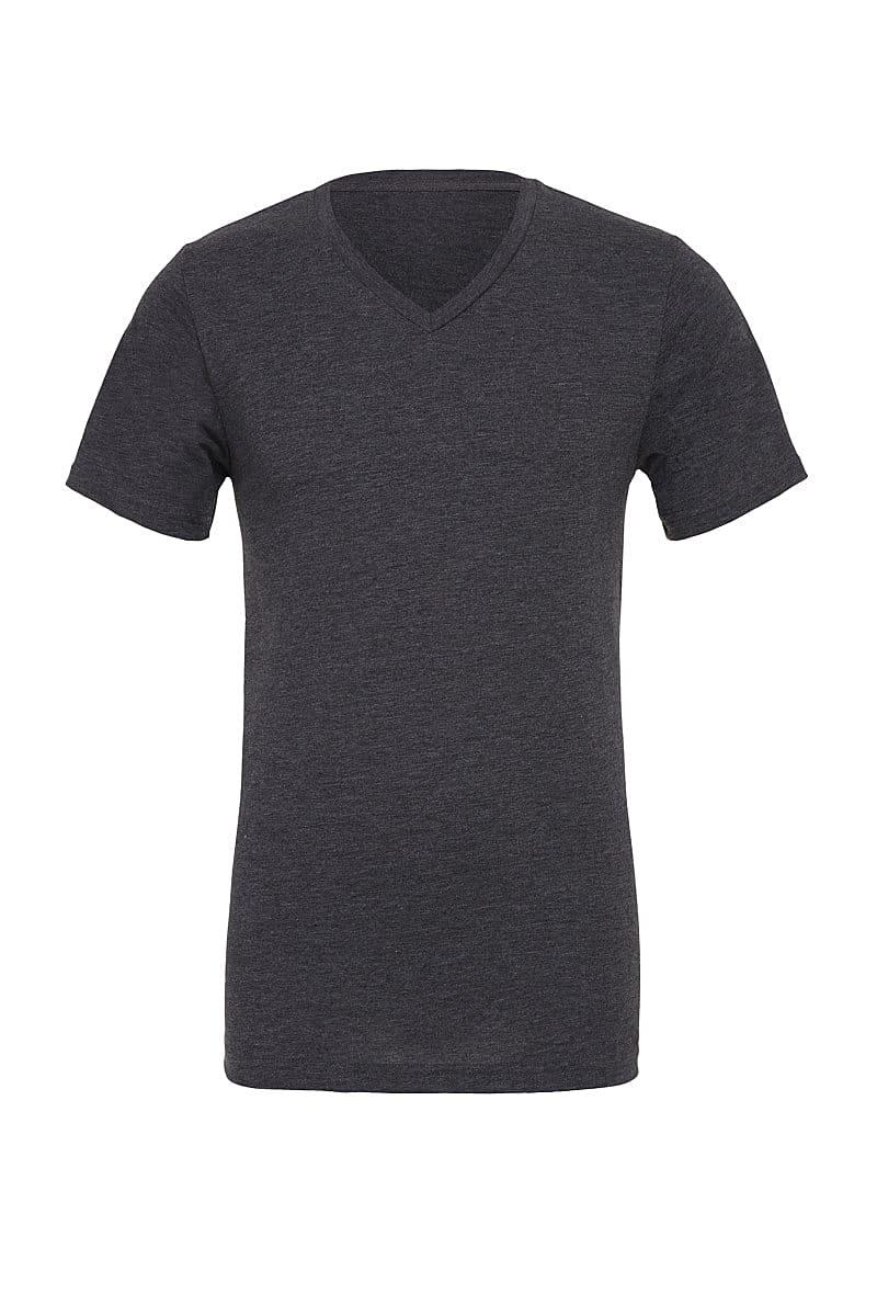 Bella Canvas Mens Jersey Short-Sleeve Vneck T-Shirt in Dark Grey Heather (Product Code: CA3005)