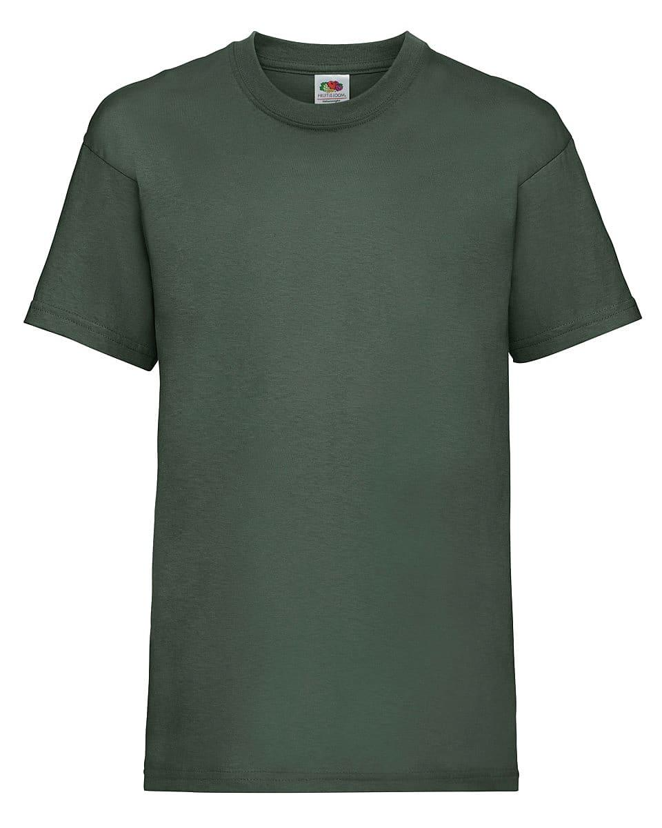 Fruit Of The Loom Childrens Valueweight T-Shirt in Bottle Green (Product Code: 61033)