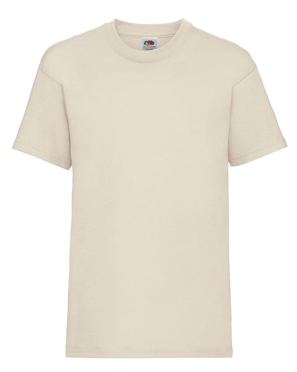 Fruit Of The Loom Childrens Valueweight T-Shirt in Natural (Product Code: 61033)