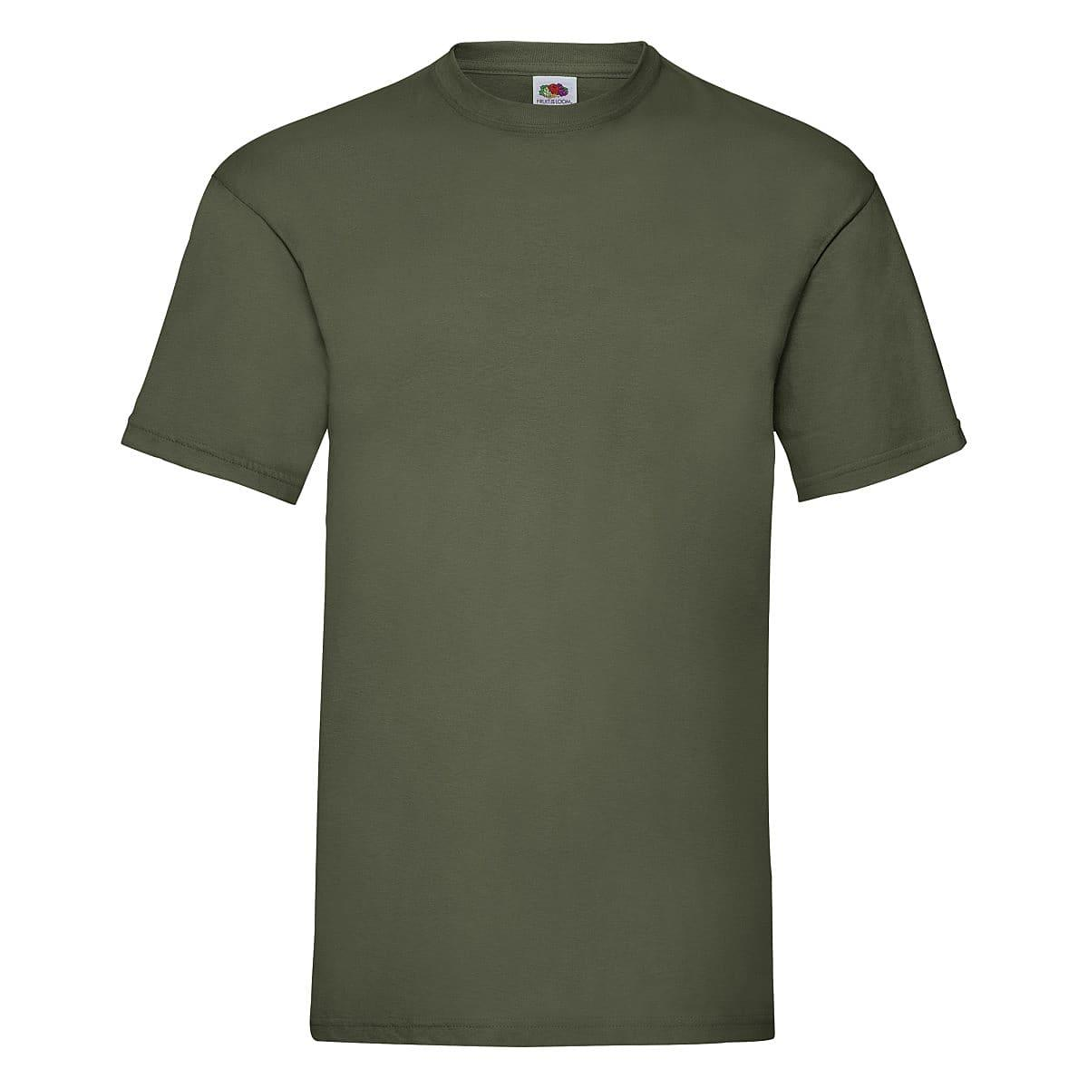 Fruit Of The Loom Valueweight T-Shirt in Classic Olive (Product Code: 61036)