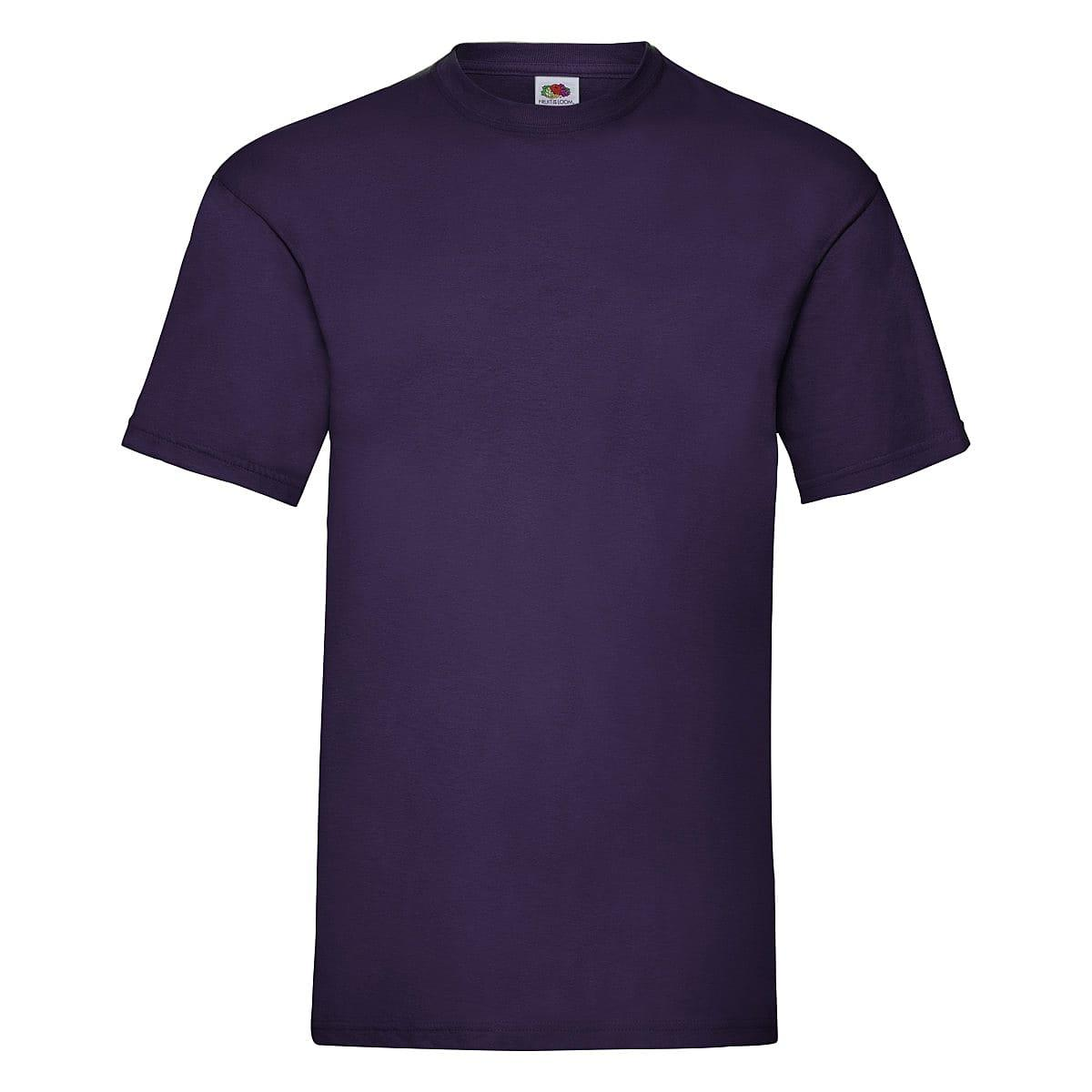 Fruit Of The Loom Valueweight T-Shirt in Purple (Product Code: 61036)