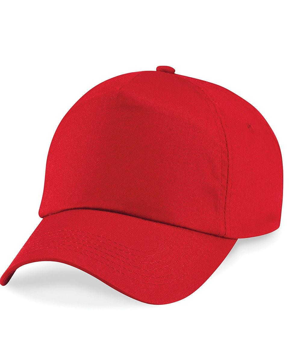 Beechfield Junior Original 5 Panel Cap in Classic Red (Product Code: B10B)