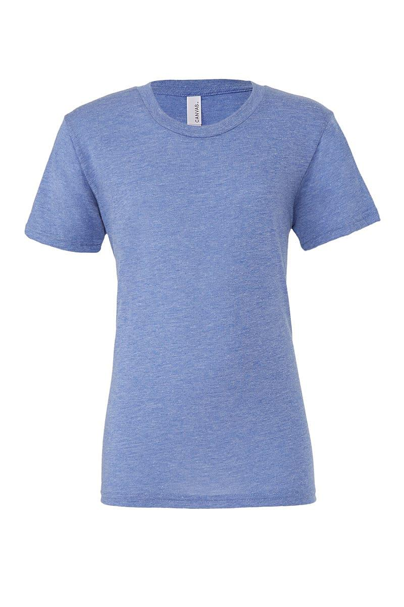 Bella Canvas Mens Tri-blend Short-Sleeve T-Shirt in Blue Triblend (Product Code: CA3413)