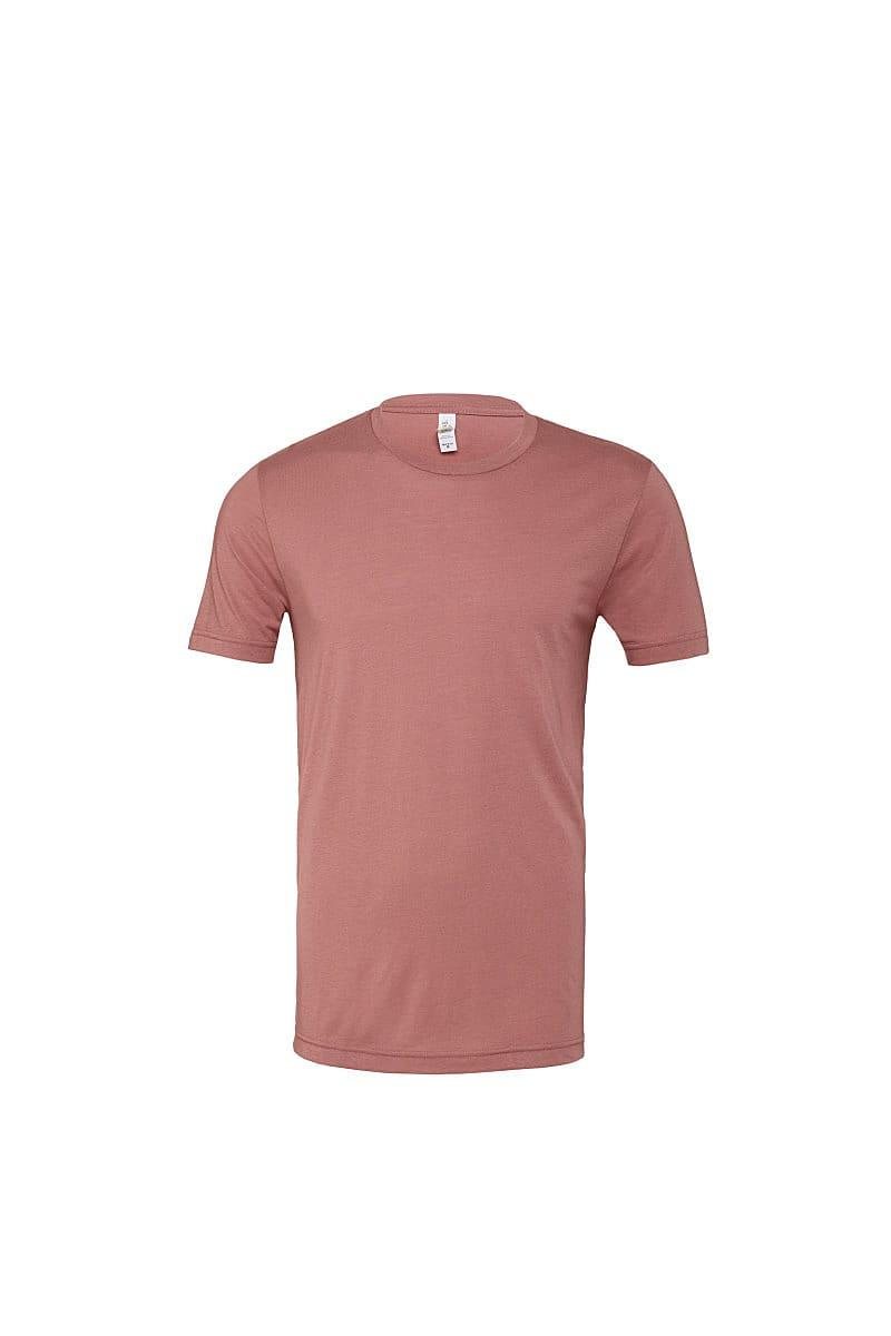 Bella Canvas Mens Tri-blend Short-Sleeve T-Shirt in Mauve Triblend (Product Code: CA3413)