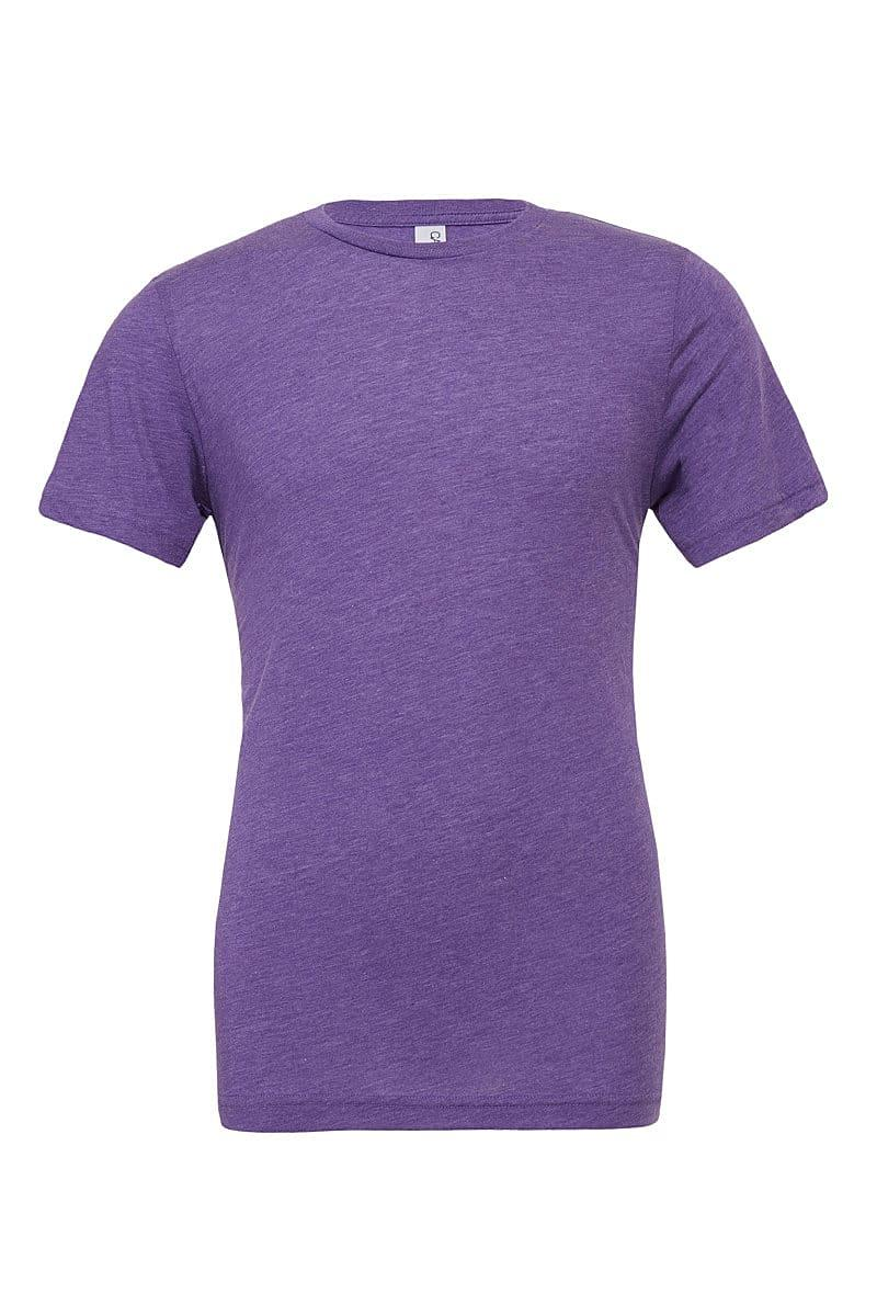 Bella Canvas Mens Tri-blend Short-Sleeve T-Shirt in Purple Triblend (Product Code: CA3413)