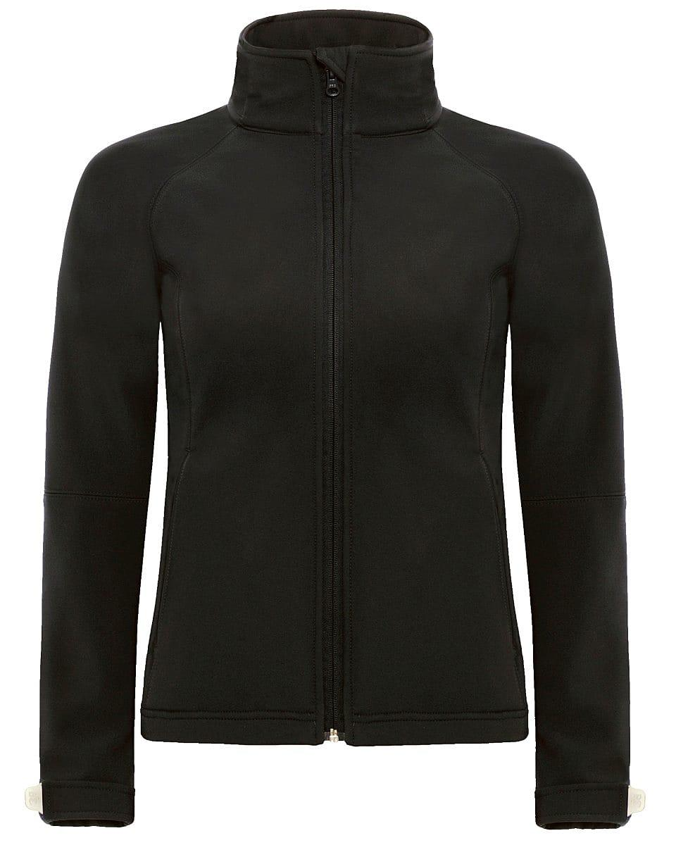 B&C Womens Hooded Softshell Jacket in Black (Product Code: JW937)