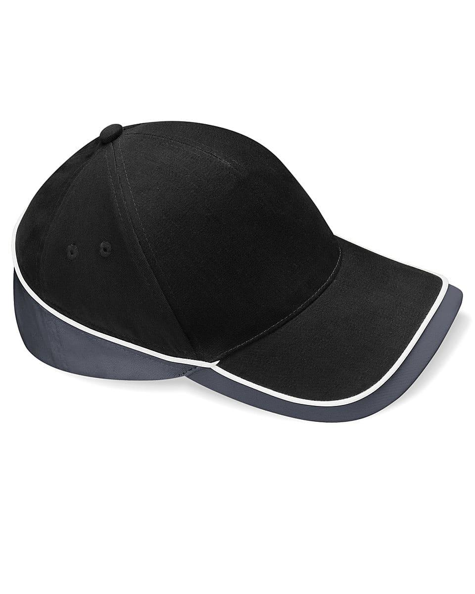 Beechfield Teamwear Competition Cap in Black / Graphite Grey / White (Product Code: B171)