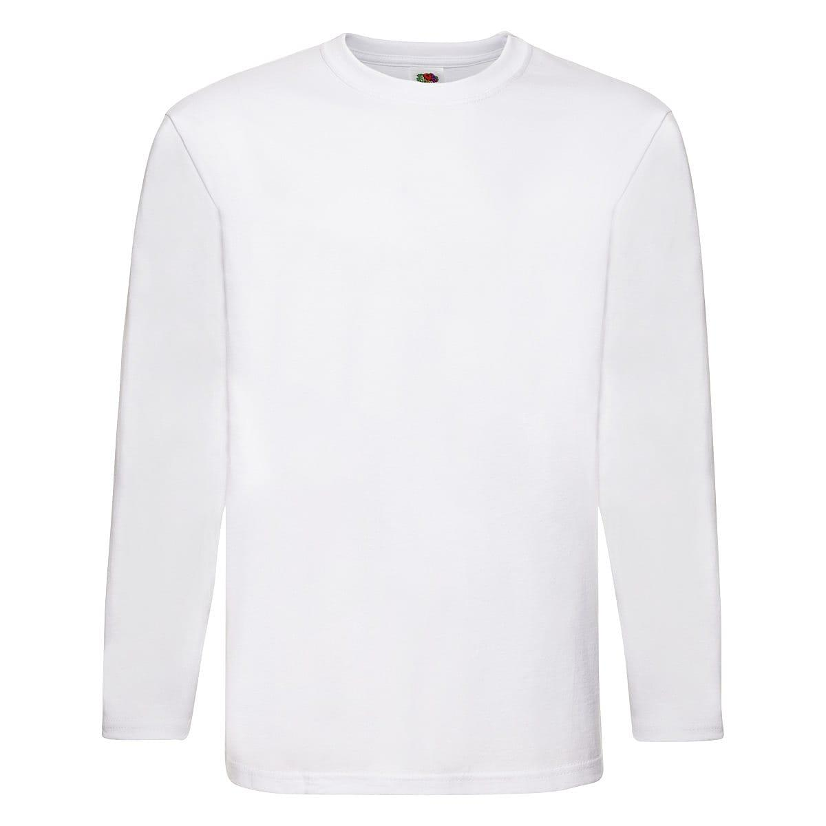 Fruit Of The Loom Super Premium Long-Sleeve T-Shirt in White (Product Code: 61042)
