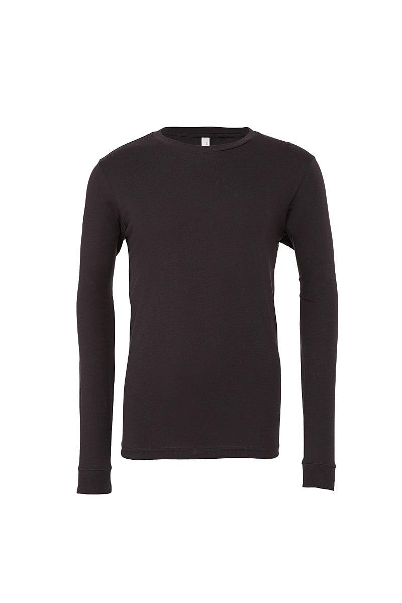 Bella Unisex Jersey Long-Sleeve T-Shirt in Dark Grey (Product Code: CA3501)