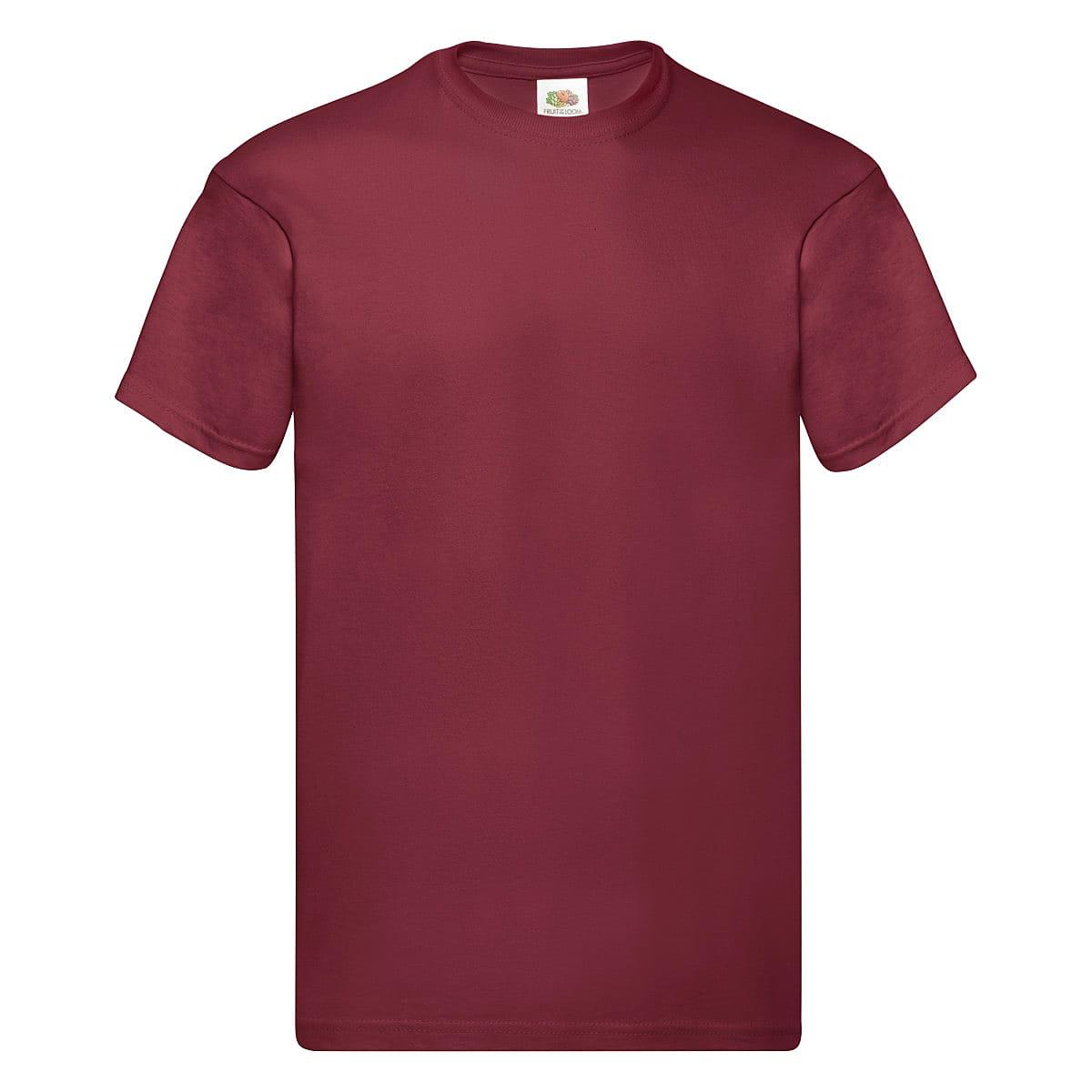 Fruit Of The Loom Original Full Cut T-Shirt in Brick Red (Product Code: 61082)