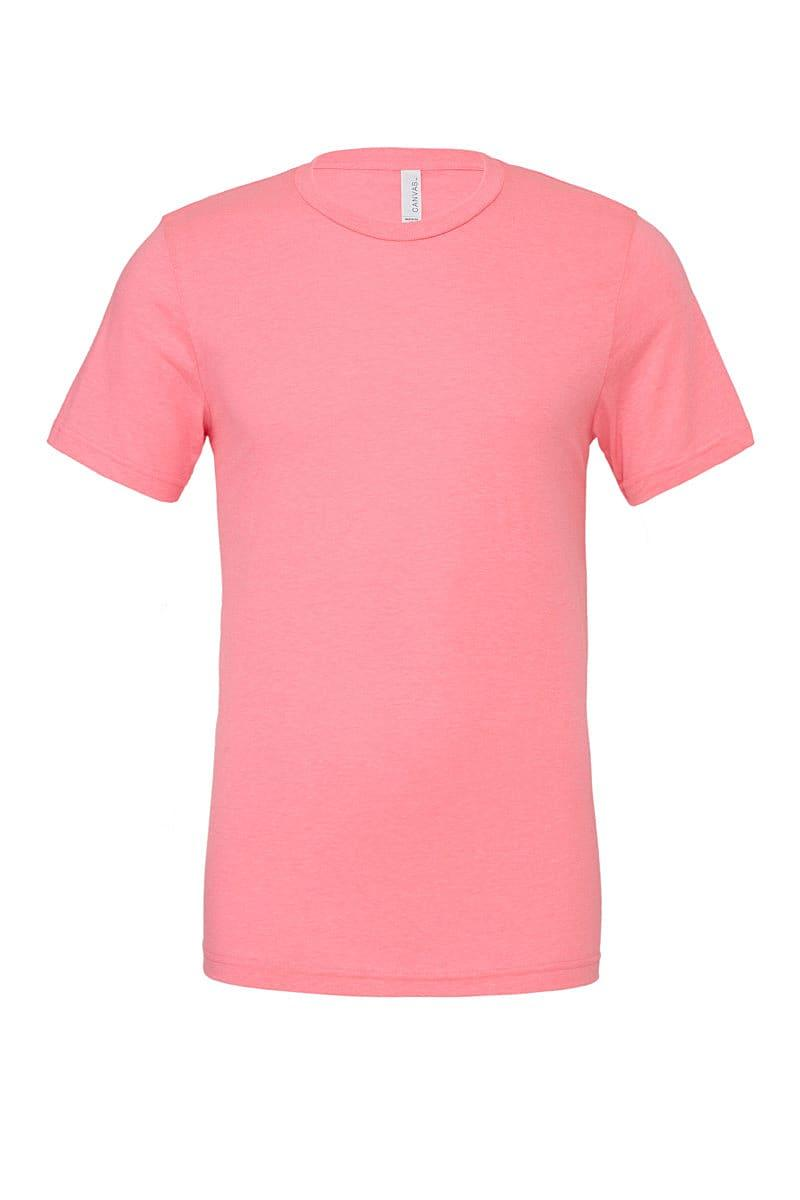 Bella Canvas Unisex Poly-Cotton Short-Sleeve T-Shirt in Neon Pink (Product Code: CA3650)