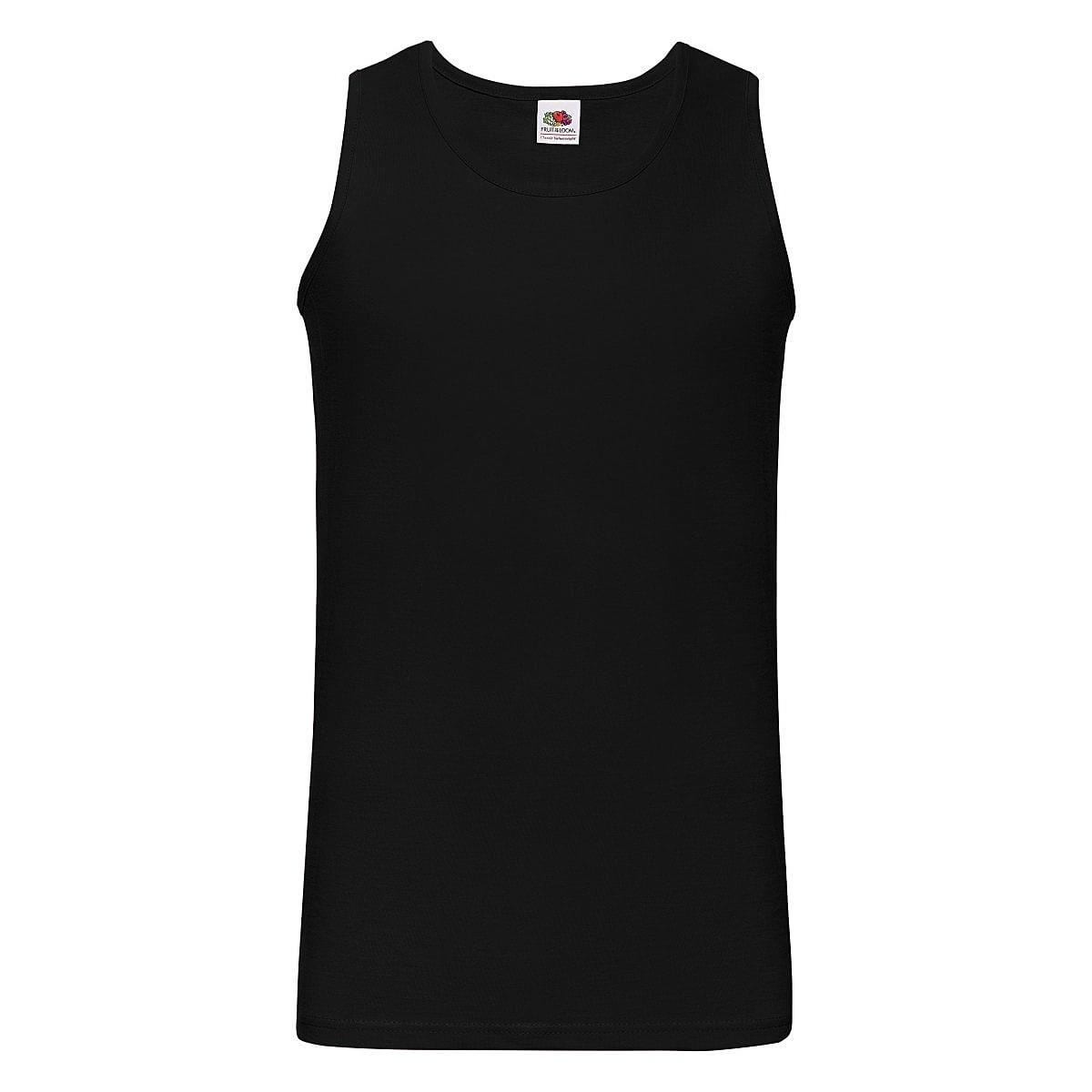 Fruit Of The Loom Athletic Vest in Black (Product Code: 61098)