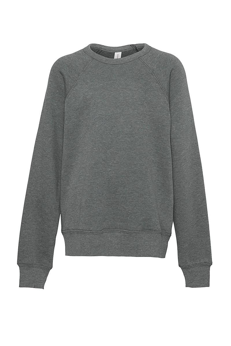 Bella Canvas Unisex Sponge Fleece Raglan Sweater in Deep Heather (Product Code: CA3901)