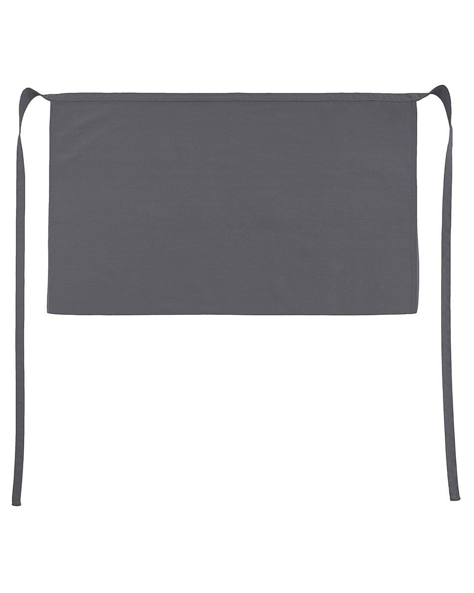 Jassz Bistro Brussels Short Apron in Grey (Product Code: JG14)