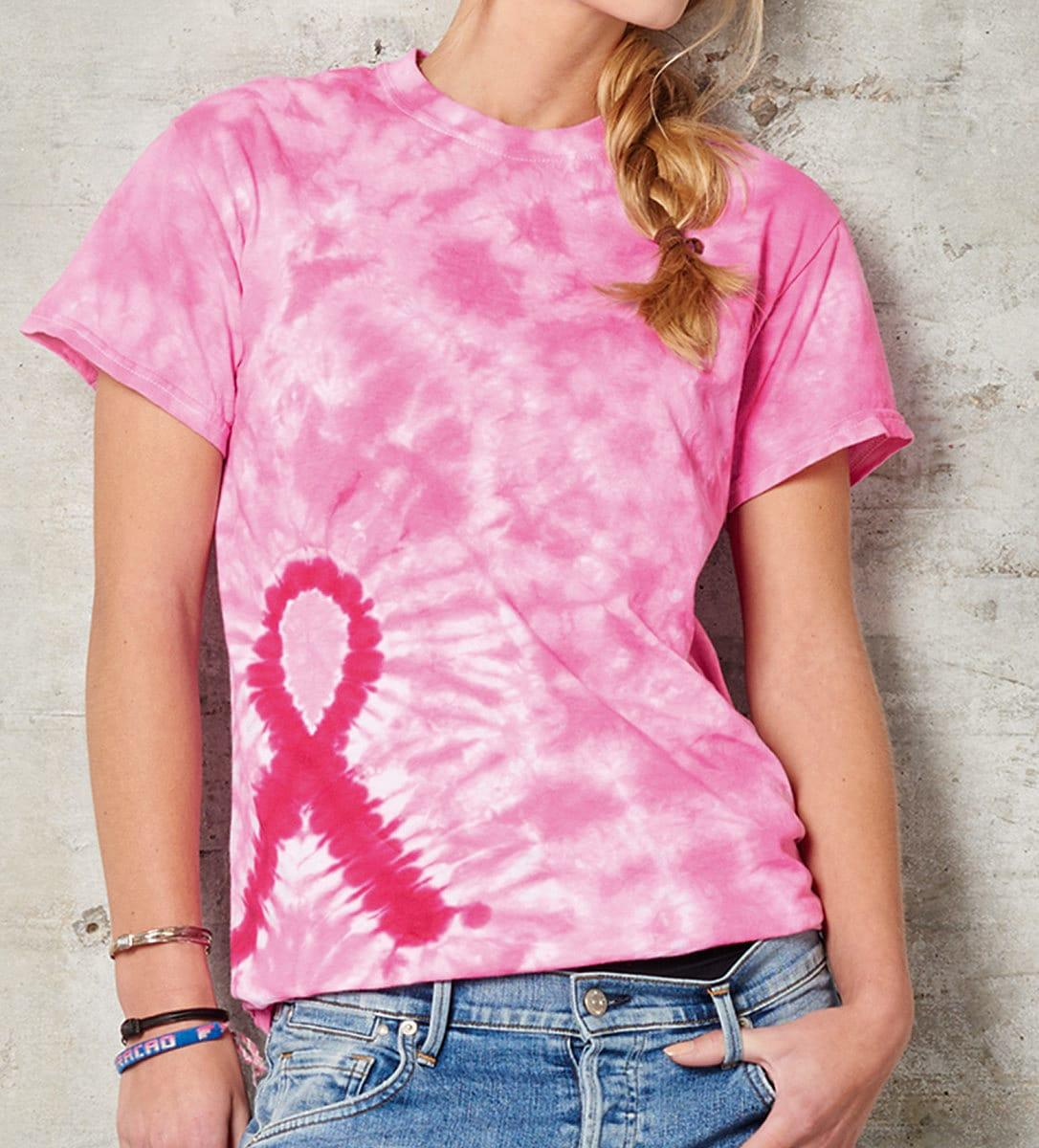 Colortone Charity T-Shirt in Pink Ribbon (Product Code: 2000TD)