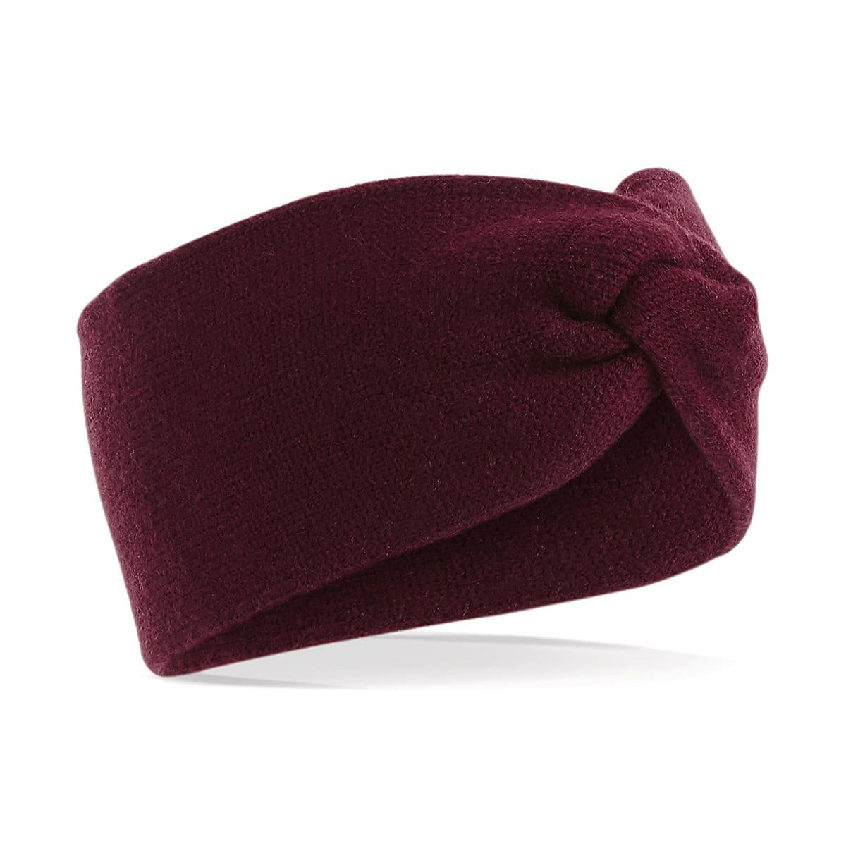 Beechfield Twist Knit Headband in Burgundy (Product Code: B432)