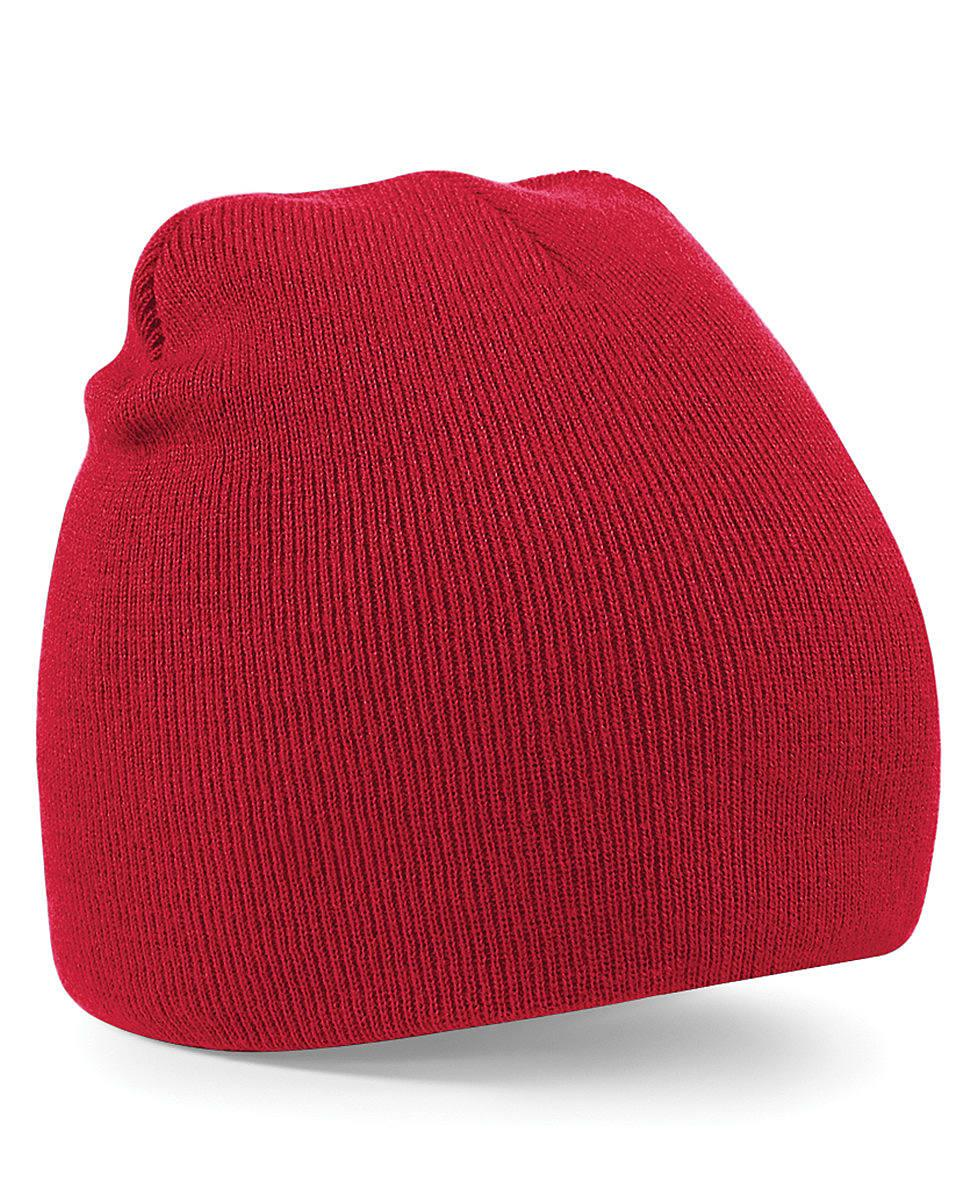 Beechfield Original Pull-On Beanie Hat in Classic Red (Product Code: B44)