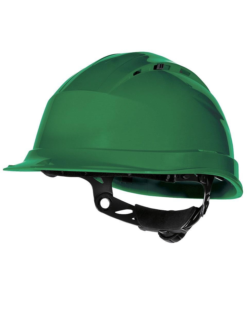 Delta Plus Quartz Rotor Safety Helmet in Green (Product Code: QUARTZ4)