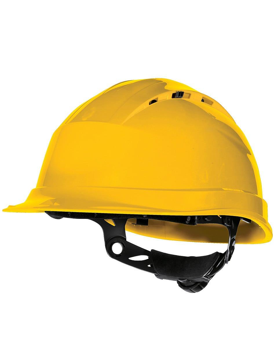 Delta Plus Quartz Rotor Safety Helmet in Yellow (Product Code: QUARTZ4)
