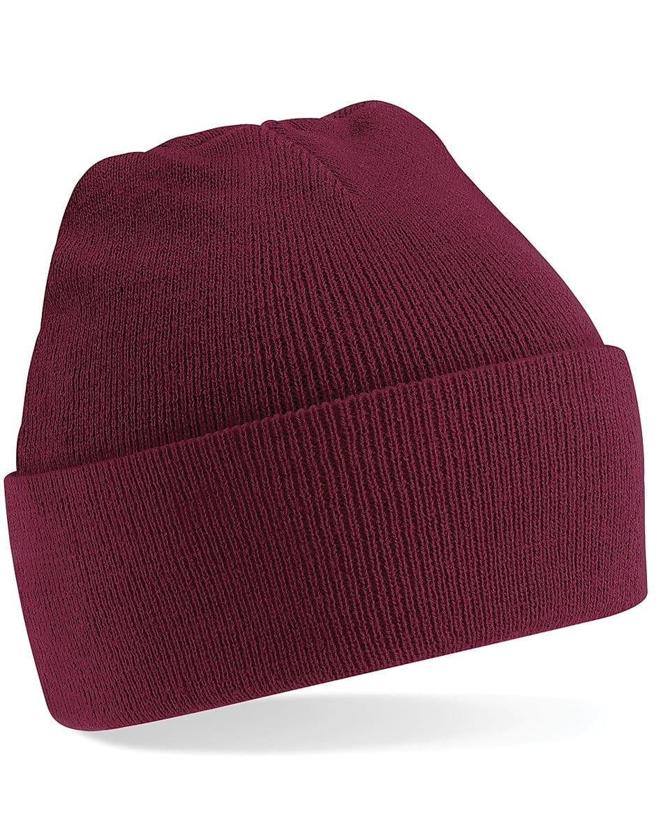 Beechfield Original Cuffed Beanie Hat in Burgundy (Product Code: B45)