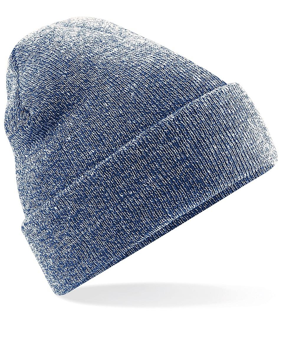 Beechfield Original Cuffed Beanie Hat in Heather Navy (Product Code: B45)