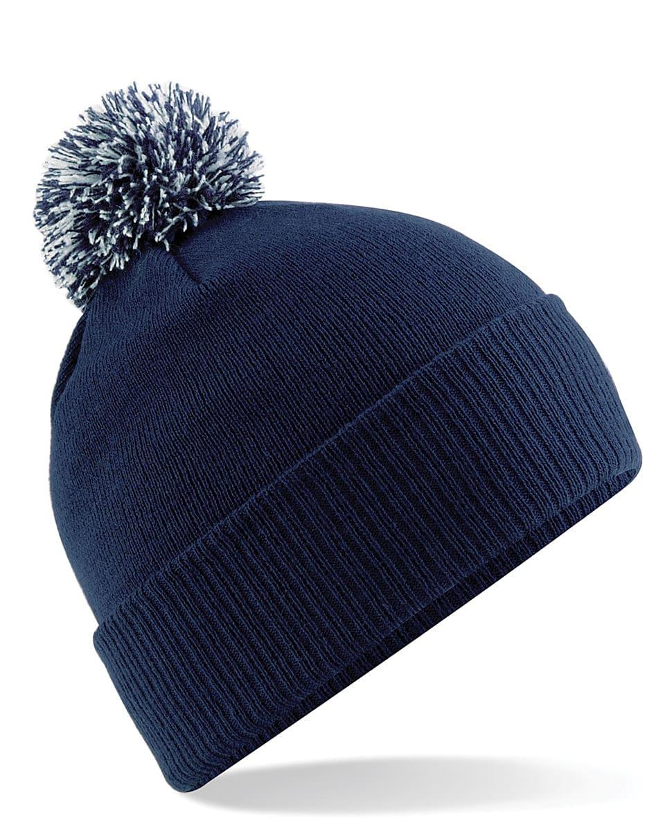 Beechfield Snowstar Beanie Hat in French Navy / Light Grey (Product Code: B450)