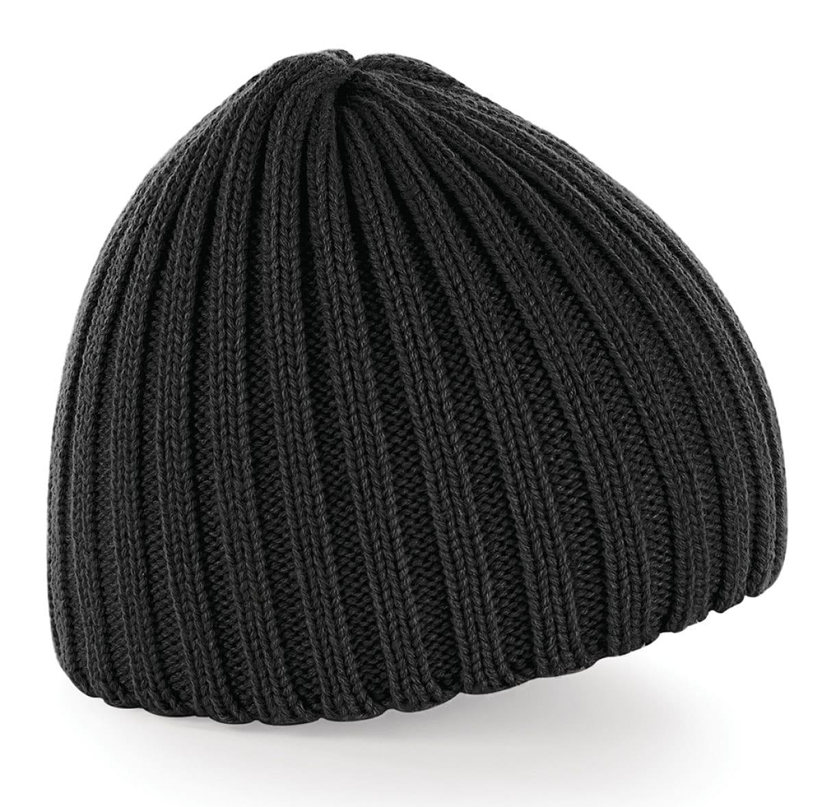 Beechfield Chunky Knit Beanie Hat in Black (Product Code: B462)