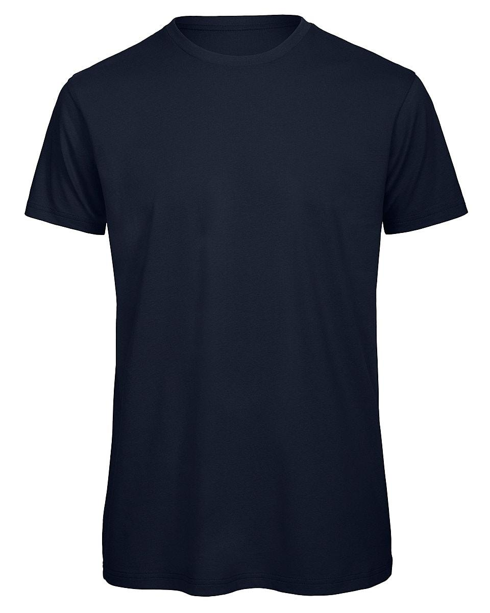 B&C Mens Inspire Crew T-Shirt in Navy Blue (Product Code: TM042)