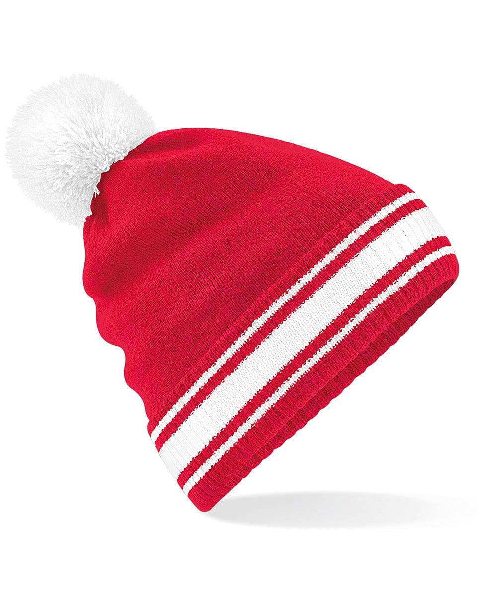 Beechfield Stadium Beanie Hat in Classic Red / White (Product Code: B472)