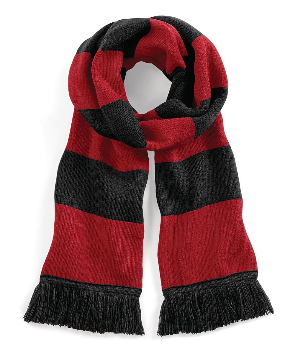 Beechfield Varsity Scarf in Black / Classic Red (Product Code: B479)