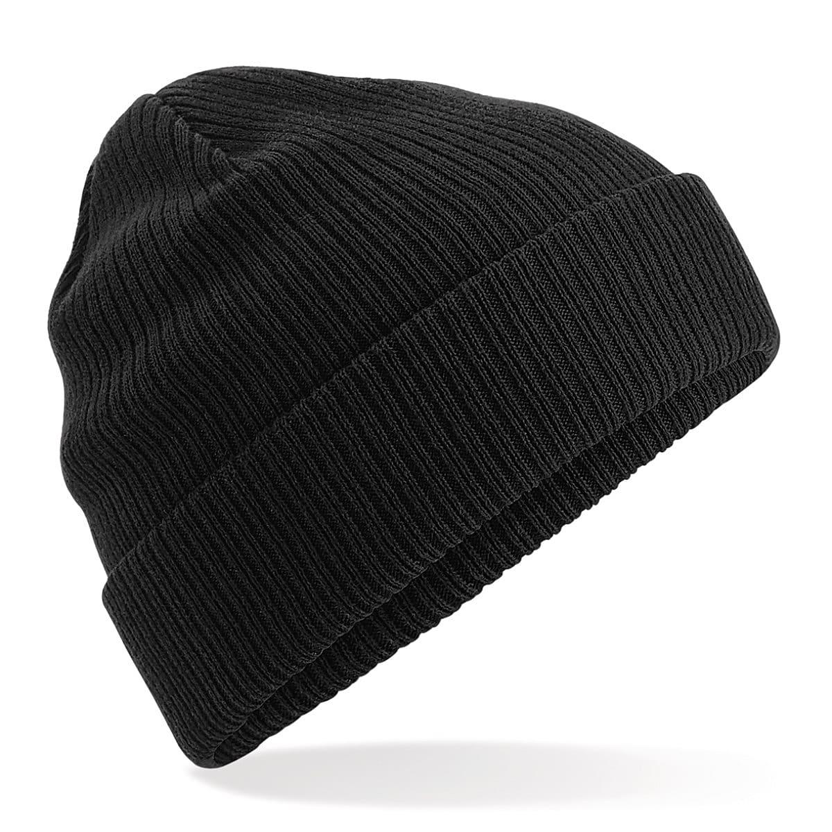 Beechfield Organic Cotton Beanie Hat in Black (Product Code: B50)