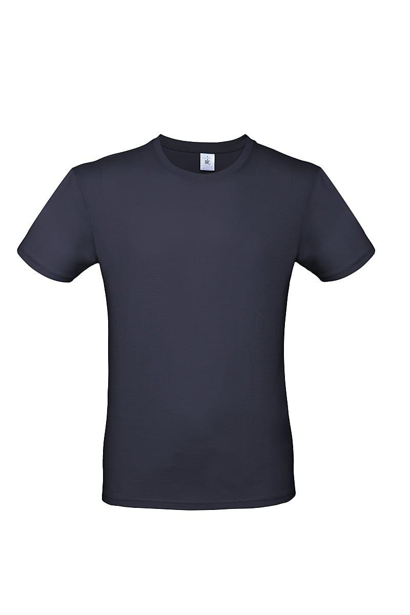 B&C Mens E150 T-Shirt in Navy Blue (Product Code: TU01T)