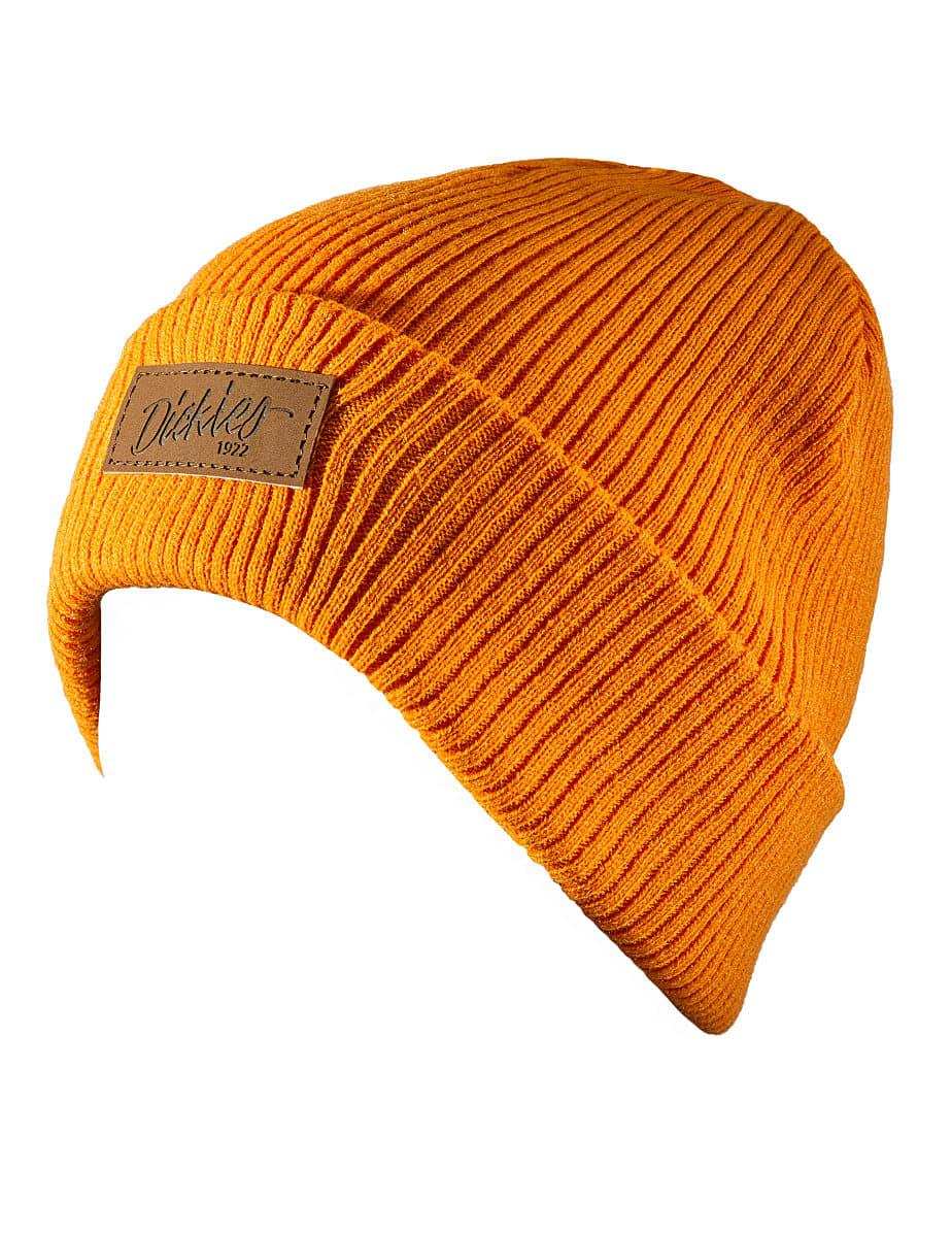 Dickies Evadale Branded Beanie Hat in Orange (Product Code: DT8003)