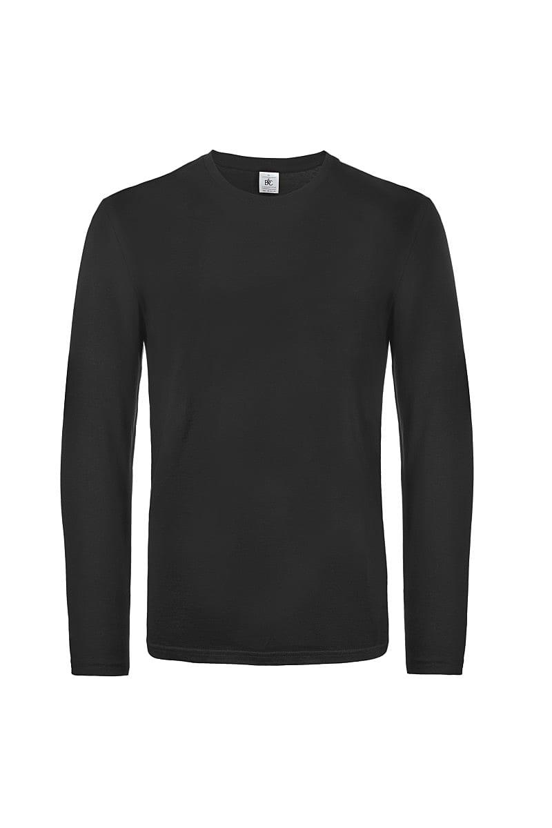 B&C Mens E190 Long-Sleeve Jersey in Black (Product Code: TU07T)