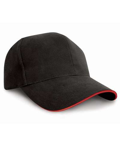 Result Headwear Pro-Style Heavy Brushed Cotton Cap with Sandwich Peak