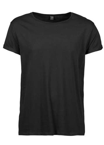 Tee Jays Mens Roll Up Sleeve T-Shirt